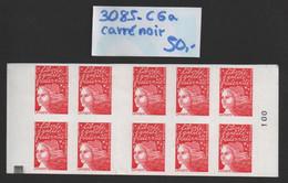Carnet N° 3085-C6a (Carré Noir) Neuf **  TTB - Uso Corrente