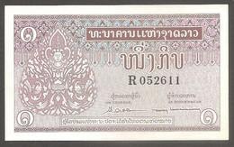 Laos - Banconota Non Circolata Da 1 Kip P-8b - 1962 #19 - Laos