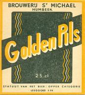 Oude Etiketten / Anciennes étiquettes Bier Bièrre : Brouwerij St Michael Humbeek - Bier