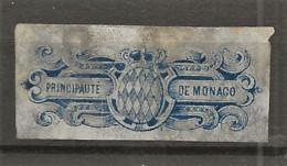 TIMBRES FISCAUX DE MONACO  ALLUMETTES 1896  BLEU  Cote 130€ - Fiscale Zegels