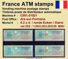 France ATM Stamps C001.01021 Michel 6.2 Xd Series ZS2 Neuf / MNH / Crouzet LSA Distributeurs Automatenmarken Frama Lisa - 1985 Papier «Carrier»