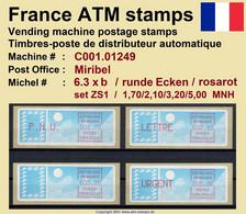 France ATM Stamps C001.01249 Michel 6.3 Xb Series ZS1 Neuf / MNH / Crouzet LSA Distributeurs Automatenmarken Frama Lisa - 1985 Papier «Carrier»