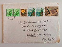 1989..JAPAN.  COVER WITH STAMPS..NATIONAL AFFORESTATION CAMPAIGN - Cartas