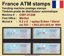 France ATM Stamps C001.01249 Michel 6.3 Zd Series ZS3 Neuf / MNH / Crouzet LSA Distributeurs Automatenmarken Frama Lisa - 1985 Papier «Carrier»
