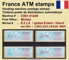 France ATM Stamps C001.01249 Michel 6.3 Zd Series ZS4 Neuf / MNH / Crouzet LSA Distributeurs Automatenmarken Frama Lisa - 1985 Papier «Carrier»
