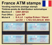 France ATM Stamps C001.69123 Michel 6.4 Zd Series ZS1 Neuf / MNH / Crouzet LSA Distributeurs Automatenmarken Frama Lisa - 1985 Papier «Carrier»