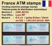 France ATM Stamps C001.69123 Michel 6.4 Zd Series ZS2 Neuf / MNH / Crouzet LSA Distributeurs Automatenmarken Frama Lisa - 1985 Papier «Carrier»