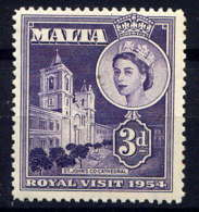 MALTE - 235** - VISITE DE LA REINE ELIZABETH II - Malta (...-1964)