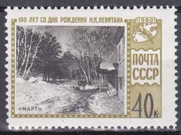 Rusland 1968, Postfris MNH, Issaak Lewitan - Ongebruikt