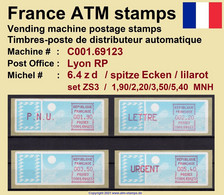 France ATM Stamps C001.69123 Michel 6.4 Zd Series ZS3 Neuf / MNH / Crouzet LSA Distributeurs Automatenmarken Frama Lisa - 1985 Papier «Carrier»