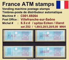 France ATM Stamps C001.69264 Michel 6.5 Zd Series ZS2 Neuf / MNH / Crouzet LSA Distributeurs Automatenmarken Frama Lisa - 1985 Papier «Carrier»