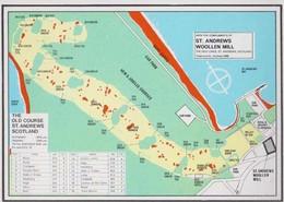 Saint Andrews Scottish Golf Course Travel To Tourist Advertising Map Postcard - Sin Clasificación