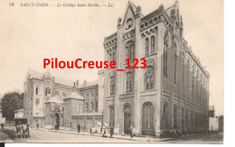 """62 Pas De Calais - SAINT OMER - """" Le Collège Saint Bertin """" - Animation - (Vue Sans Cheval Avec Son Cavalier En Selle) - Saint Omer"""