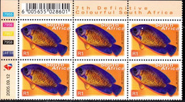 South Africa - 2005 7th Definitive R1 Control Block (2005.09.12) (**) - Hojas Bloque
