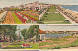 Palmeira Gardens Sunken Lagoon Hove Sussex 4x 1950s Postcard S - Zonder Classificatie