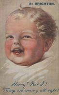 Baby At Brighton Sussex Antique Comic WW1 Postcard - Zonder Classificatie
