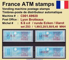 France ATM Stamps C001.69920 Michel 6.6 Xd Series ZS3 Neuf / MNH / Crouzet LSA Distributeurs Automatenmarken Frama Lisa - 1985 Papier «Carrier»