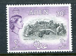 Aden 1953-63 QEII - Wmk. Script CA - 20/- Aden In 1572 - Black & Deep Lilac MNH (SG 72) - Aden (1854-1963)