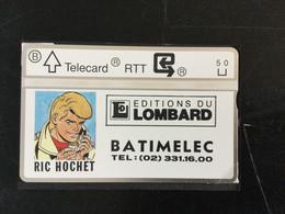 Télécarte Privée Neuve 5U : édition Du Lombard : Ric Hochet - Sin Chip