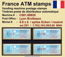 France ATM Stamps C001.69920 Michel 6.6 Zb Series ZS1 Neuf / MNH / Crouzet LSA Distributeurs Automatenmarken Frama Lisa - 1985 Papier «Carrier»