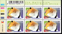 South Africa - 2006 7th Definitive 70c Control Block (2006.02.24) (**) - Hojas Bloque