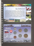 "Slovacchia - Folder Bolaffi ""Monete Dal Mondo"" Serie Completa Emissioni Valori UNC - Slovakia"