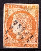 5 - 40c Orange Cérès - FAUX Fournier - Oblitéré - Aminci - 1849-1850 Ceres