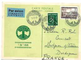 SF040 / FINNLAND - 3. Welt-Forst-Kongress 1949 - Cartas