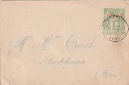 Port Said Entier Postal 5 Centimes Oblitéré Le 2 Fevrier Er 1903 Pour La France Pas De  Cachet D'arrivée - Cartas