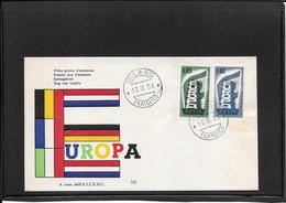 Italia 1956  Europa Cept Fdc (ref 350c) - F.D.C.