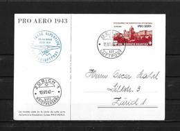 1943 PRO AERO → 30 Jahre Alpenflug Oskar Binder, Offizielle Karte     ►SBK-F36 FDC 13.VII.43◄ - Erst- U. Sonderflugbriefe