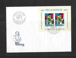 1962 PRO JUVENTUTE → Offizieller Briefumschlag Mit Block 50 Jahre Für Die Jugend   ►SBK-J199 FDC◄ - Briefe U. Dokumente