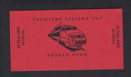 CARNET PRIVE MARIANNE DE BRIAT PREMIERE LIAISON TGV RESEAU NORD BETHUNE 1993 - Autres