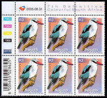 South Africa - 2005 7th Definitive R3 Control Block (2005.08.31) (**) - Hojas Bloque