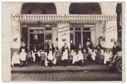 Dieppe (76) - Carte-photo - Restaurant Tocqueville-Lefèbvre, Arcades De La Poissonnerie - Belle Et Rare Animation - Dieppe
