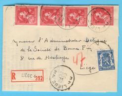 Belgique N° 426 Et 690 X4 LIEGE 18-XI-1948 - Sin Clasificación