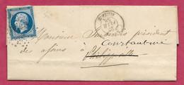 Algérie-Lettre D'Alger Pour Philippeville, Redirigée Vers Constantine - 1849-1876: Periodo Classico