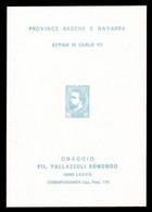 FOGLIETTO PUBBLICITARIO Filatelia Di Lecco - Province Basche E Navarra / Effige Di Carlo VII - Variétés & Curiosités