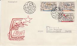 TCHECOSLOVAQUIE 1977 LETRE FDC POUR LA FRANCE - Cartas