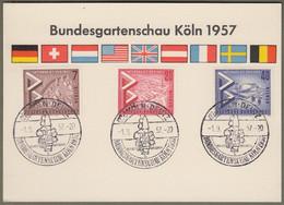 "Berlin: Sonderkarte Mit Mi.-Nr. 160-62 SST: "" Bundesgartenschau Köln 1957 "" !      X - Storia Postale"