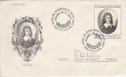 TCHECOSLOVAQUIE 1977 LETRE FDC PEINTURE DE VACLAV HOLLAR POUR LA FRANCE - Cartas