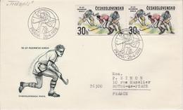 TCHECOSLOVAQUIE 1978 LETTRE FDC HOCKEY SUR GAZON POUR LA FRANCE - Cartas