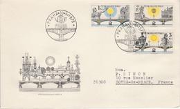 TCHECOSLOVAQUIE 1978 LETTRE FDC EXPO PRAGA PONTS DE PRAGUE POUR LA FRANCE - Unclassified