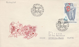 TCHECOSLOVAQUIE 1978 LETTRE FDC 60 ANS INDEPENDANCE POUR LA FRANCE - Unclassified