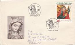 TCHECOSLOVAQUIE 1978 LETTRE FDC PEINTURE DU XV EME SIECLE POUR LA FRANCE - Cartas