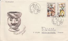 TCHECOSLOVAQUIE 1978 LETTRES FDC CERAMIQUES SLOVAQUES POUR LA FRANCE - Cartas