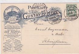 Rapperswil - Gustav Himpel - Mech.Dampfcafé Rösterei - Vorläufer-Werbekarte - 1906        (P-303-01020) - SG St-Gall