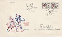 TCHECOSLOVAQUIE 1978 LETTRE FESTIVAL FOLKLORIQUE POUR LA FRANCE - Cartas
