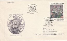 TCHECOSLOVAQUIE 1978 LETTRE NATURE MORTE POUR LA FRANCE - Cartas