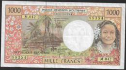 Billet Institut D Emission D Outre Mer 1000 Francs Clas01 N091 - Papeete (French Polynesia 1914-1985)